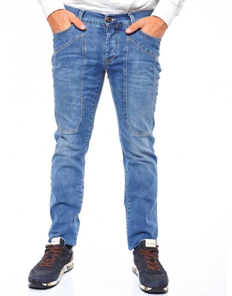 Pantaloni 5 tasche Uomo Jeckerson D357 BRIGHT BLU