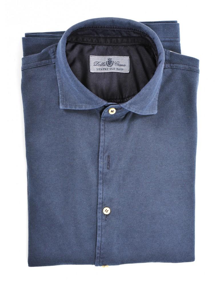 Camicia oxford lavato Uomo Della ciana 37582NAVY