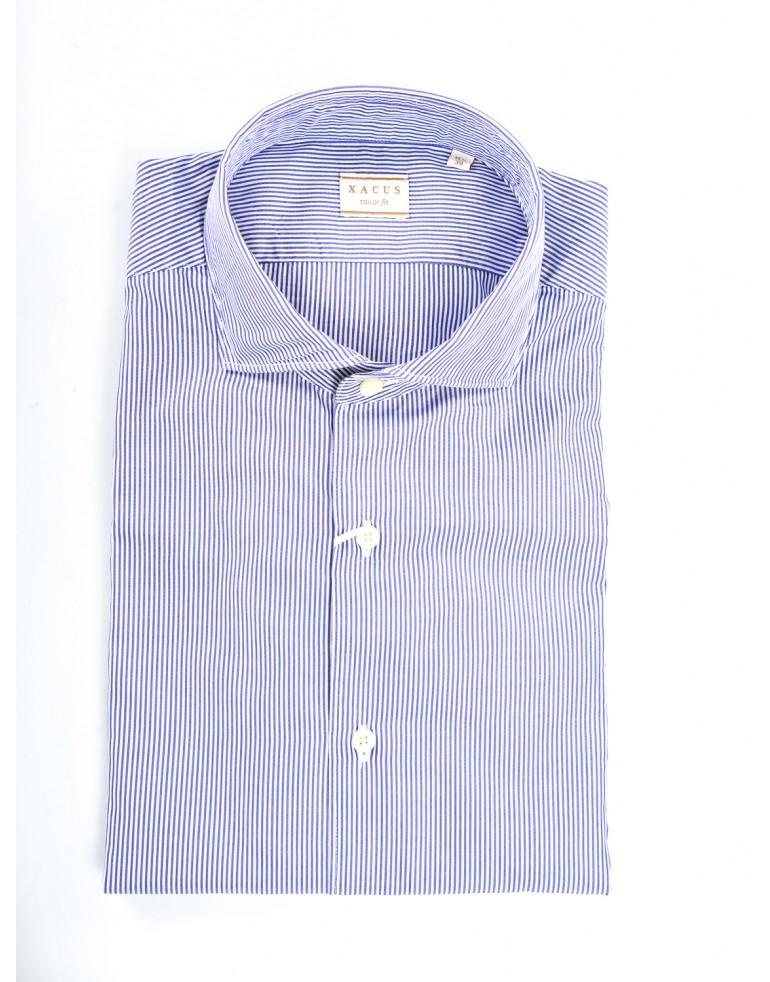 Camicia millerighe Uomo Xacus 007 AZZ