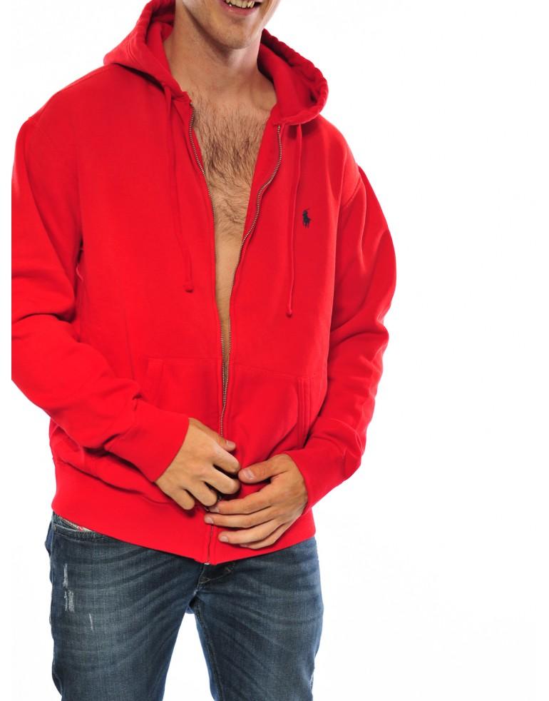 new product dd5d0 4e68a Felpa full zip cappuccio Uomo Polo ralph lauren